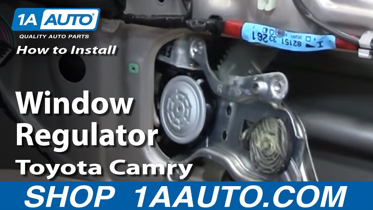 How To Install Replace Broken Window Regulator Toyota Camry 9701 1AAuto  YouTube