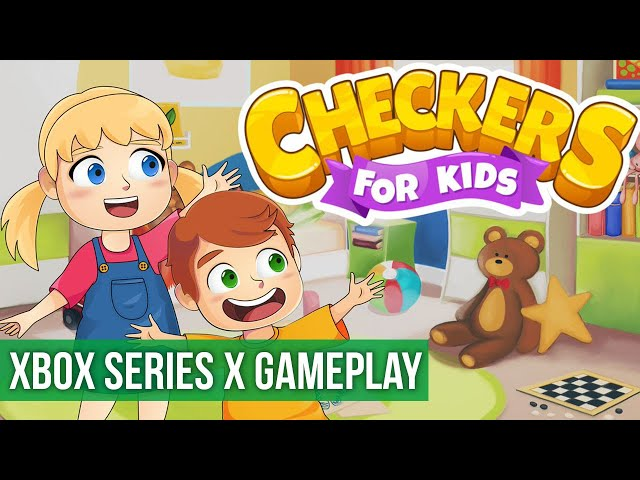 Checkers for Kids - Gameplay (Xbox Series X) HD 60FPS