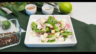 Зелёный салат с яблоком | Ужин? Не проблема!