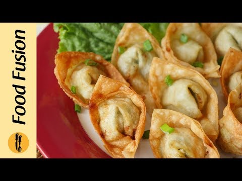 Download Youtube: Chicken Wonton Recipe By Food Fusion