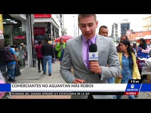 Con esta insólita frontera delimitan a delincuentes en el centro de Bogotá