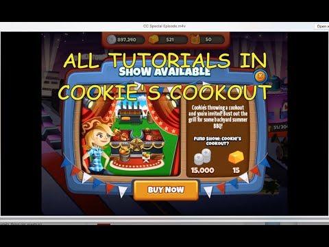 All Tutorials In Cookies's Cookout (Cooking Dash 2016)