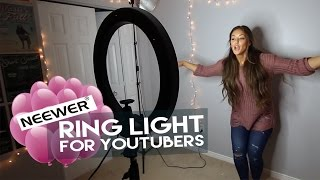 AFFORDABLE Neewer Ring Light for YouTubers Review on MY BIRTHDAY!!