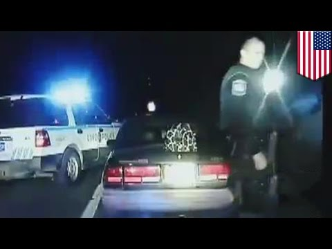 Stolen police car chase: Dashcam shows Roxanne Rimer in crazy police chase with handcuffs on