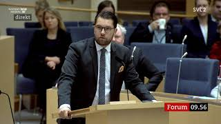 Jimmie Åkesson - massinvandringen måste upphöra