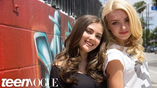 Peyton List and BFF Kaylyn Hang out at the Star