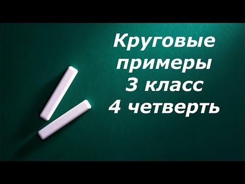 Круговые примеры 3 класс 4 четверть