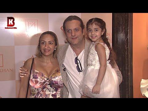 Fardeen Khan With Beautiful Wife Natasha & Daughter Arrives At Farah Khan's Store Launch