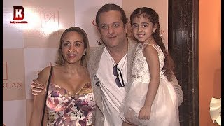 Fardeen Khan With Beautiful Wife Natasha & Daughter Arrives At Farah Khan's Store Launch