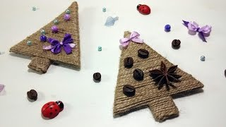 DIY Елка СВОИМИ РУКАМИ / Twine Christmas Tree DIY / Мастер класс 🐞 Afinka