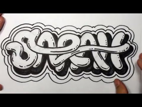 How to Draw Graffiti Letters - Write Sarah in Cool letters | MAT