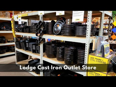 Lodge Cast Iron Factory Outlet Store Tour and Haul | Dutch Oven and Skillet | What's Up Wednesday!