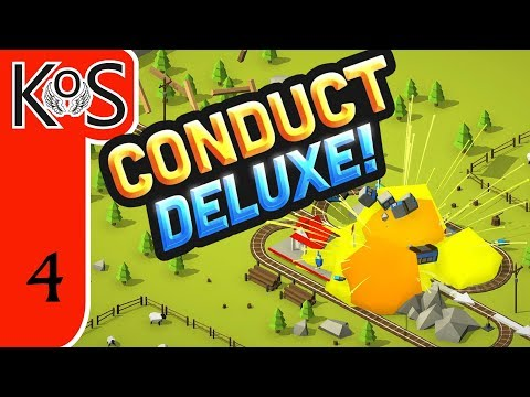 Conduct Deluxe! Ep 3: UNLOCKING MORE CRAZY TRACKS! - First Look - Let's Play, Gameplay, Trains!