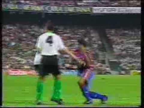 Jordi Cruyff goal for Barca V Atletico 1995/96