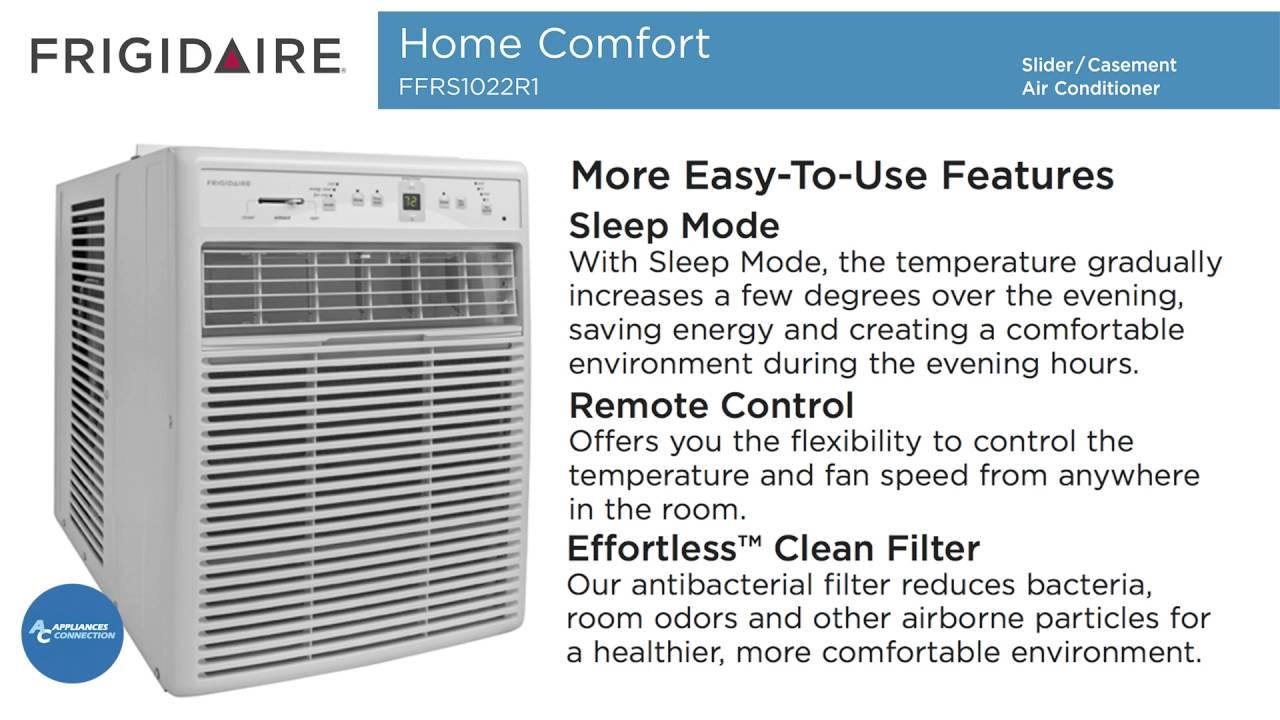 frigidaire window-mounted slider/casement air conditioner ffrs1022r1