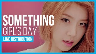 Download Girls Day - Something Line Distribution (Color Coded) MP3 song and Music Video