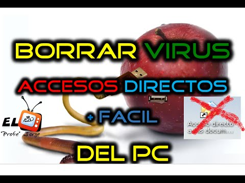 """Como ELIMINAR VIRUS ACCESOS Directos Del COMPUTADOR  .trashes + """"OCULTA Carpetas"""""""