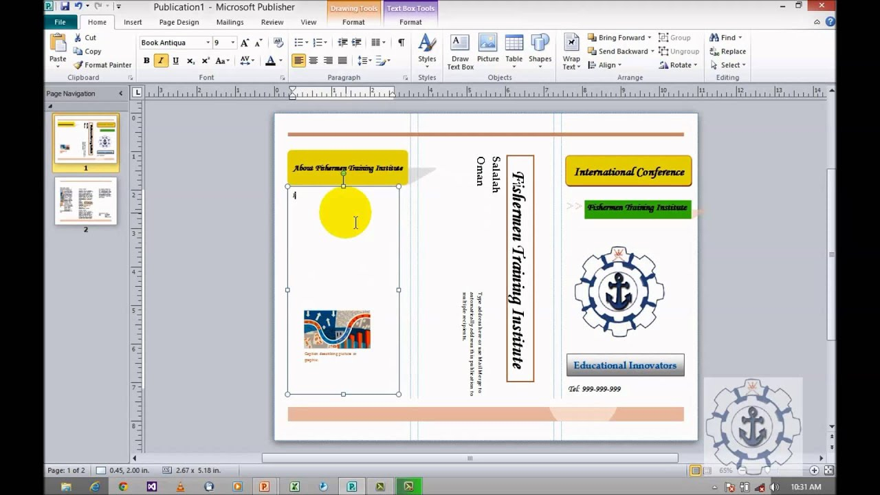 How to Create Brochures in Microsoft Publisher 2010 (Informational ...