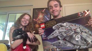 Lego Millennium Falcon Build w/ Forrest & Alyssa