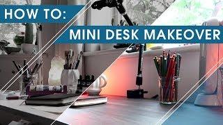 Mini Desk Makeover   DIY Contact Paper