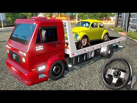 PRIMEIRA VIAGEM Com CAMINHÃO GUINCHO!!! - Euro Truck Simulator 2 + G27