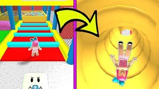 Roblox: SLIDING DOWN 999 999 INCHES INTO A BALL PIT!!!
