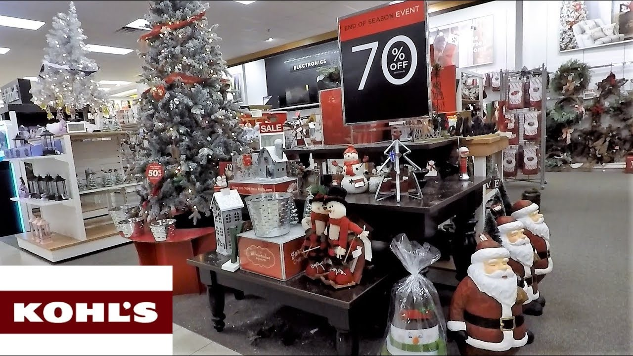 Is Kohls Open On Christmas Eve.Kohl S After Christmas Clearance Sale Christmas 2018 Shopping Decorations Ornaments Decor