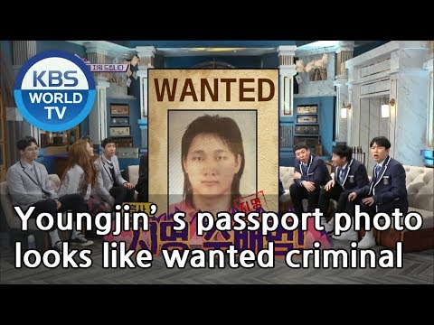 Youngjin's Passport Photo Looks Like Wanted Criminal [Happy Together/2019.03.07]