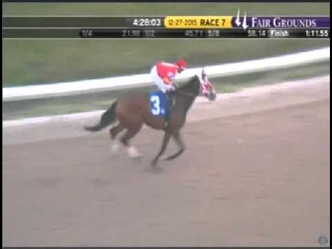 Wings Locked Up WINS at Fair Grounds Race Course on 12/27/2015