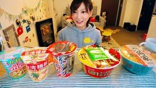 【MUKBANG】 Kinoshita Yuka's Social Eating LIVE [Compare 5 Different Kinds of Noodles] [NO CAPTION] thumbnail