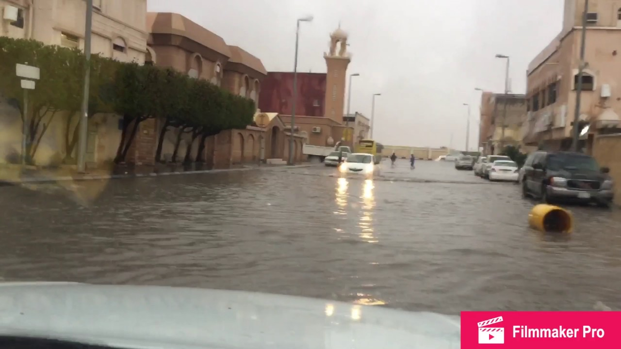 Heavy Rain And Flood In Saudi Arabia Abqaiq Youtube