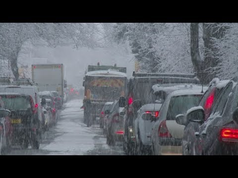 Snow from Storm Caroline causes chaos