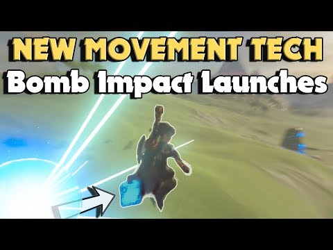 New Movement Tech in Breath of The Wild! Bomb Impact Launches