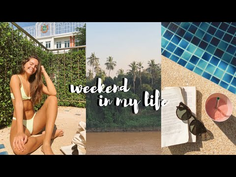 weekend in my life! | relaxing by the pool, bike rides, decorating my room for christmas, & more!