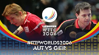 Вспоминаем 2006 год - Werner Schlager vs Timo Boll | WTTC 2006