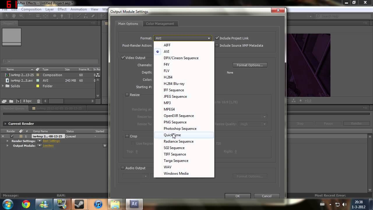 Best Export and Render Settings for Adobe After Effects CC 2018!