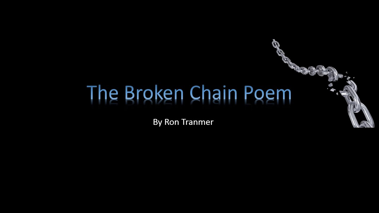 image relating to The Dash Poem Printable Pdf titled The Harmed Chain Poem