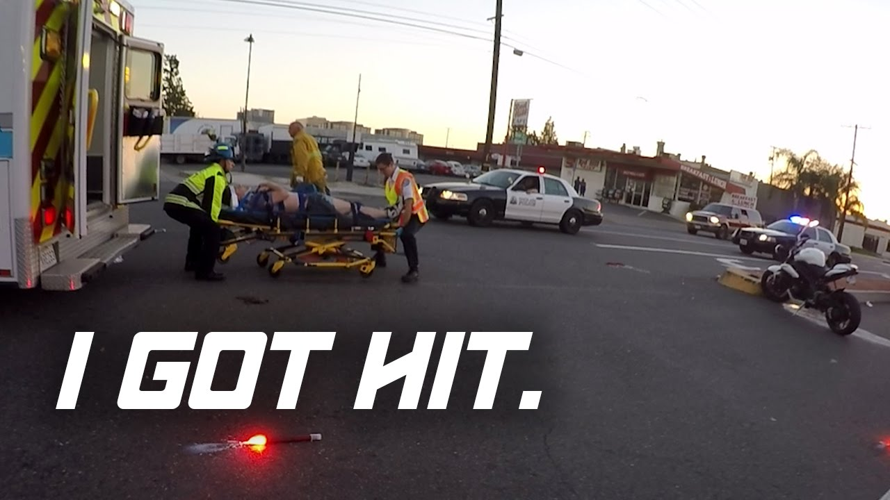 i got hit (motorcycle crash) (full video) - youtube