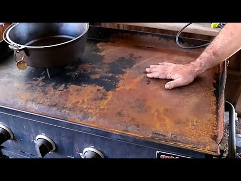 How to take the rust off of a flat griddle or blackstone