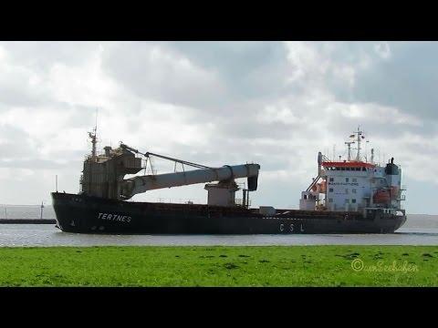 bulk carrier TERTNES C6AS8 IMO 8315554 inbound Emden cargo seaship Selbstentlader