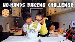 NO-HANDS BAKING CHALLENGE!!!!