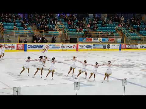 Synchro skating - Angelica and her group at Christmas Gala - 2 Dec 2017