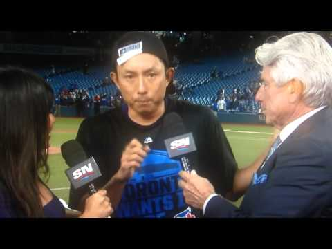 Munenori Kawasaki ALDS 2015 Post Game Interview Toronto Blue Jays