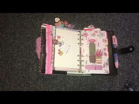 Personal agenda 52 setup using my mini happy planner