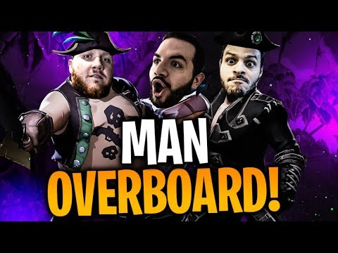 THE WORST CREW ON THE SEVEN SEAS!! W/ COURAGE & BASICALLYIDOWRK!!   Sea of Thieves Part 1