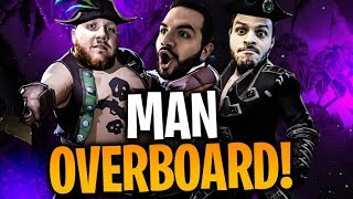 THE WORST CREW ON THE SEVEN SEAS!! W/ COURAGE & BASICALLYIDOWRK!! | Sea of Thieves Part 1