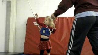 Kylie at Gymnastics Class - Toddler, Baby Gymnast - Below level 1, Tumble Bees, 2 year old