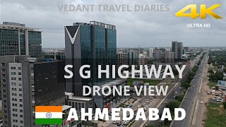 S G Highway  Ahmedabad Drone View |  Six Lane Work In Progress Updates | Vedant Travel Diaries