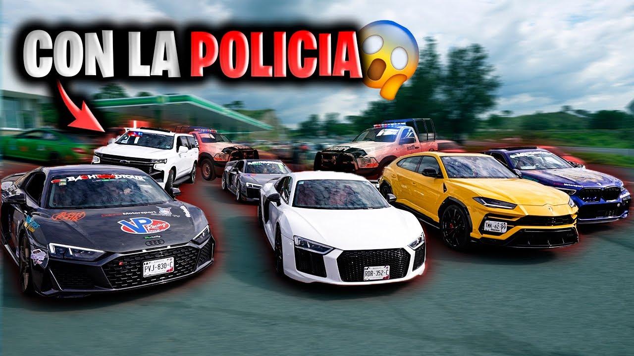 RODANDO MI AUDI R8 Y LAMBORGHINI CON FERRARI, MCLAREN Y NOS ESCOLTA LA POLICIA || ALFREDO VALENZUELA