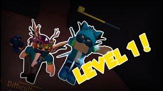 LOW LEVEL BEAT AN INSANE LEVEL!!!   Flood Escape 2 on Roblox #14 w/ COBBLECHRIS0
